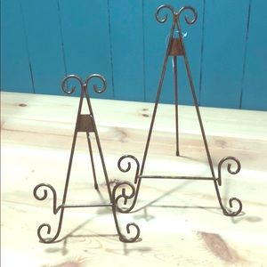 Two Plate/Picture Easels Rustic Bronze